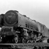 "46237 City of Bristol at Camden MPD in April 1955 with Driver H G ""Harry"" Whitty."