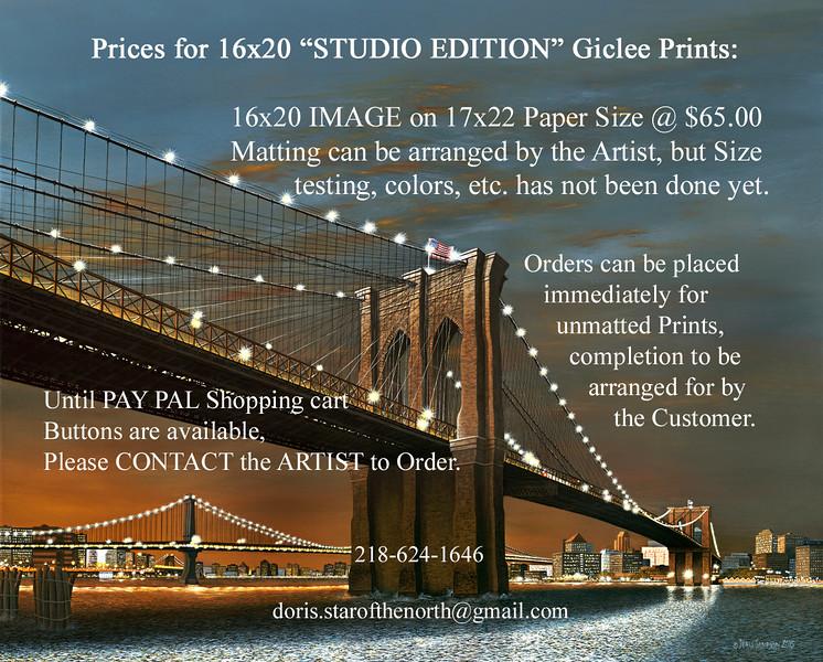 """Brooklyn Bridge, Twilight Hope"" by Doris Sampson"