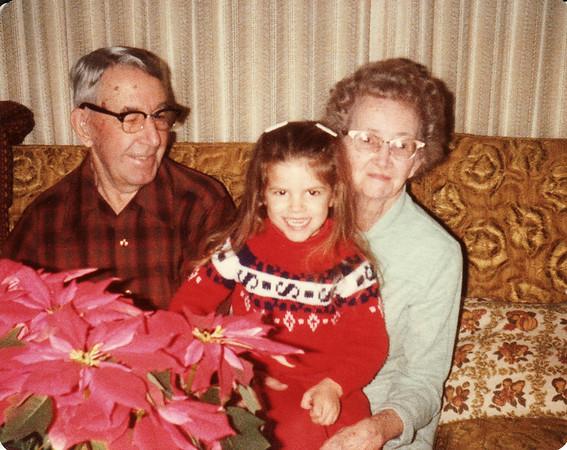 Laura, Gma and Gpa Saylor Ranch Christmas 1979