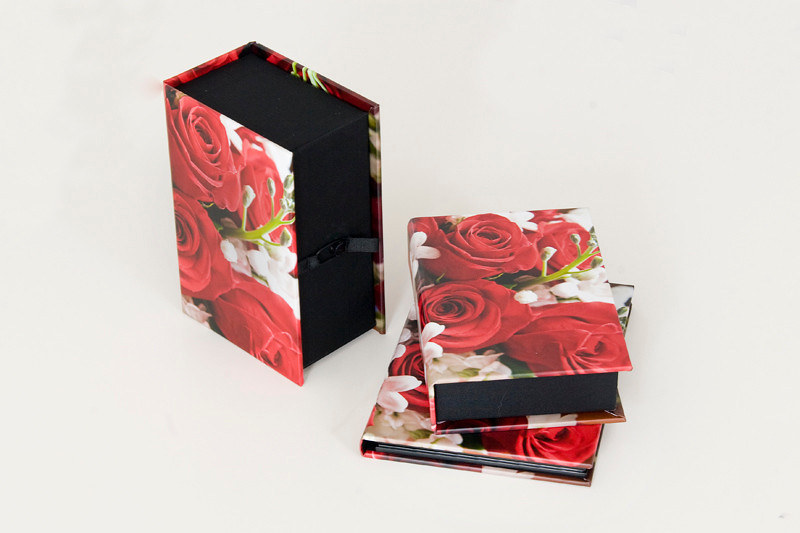 Custom image cover on Memory Box and DVD Case