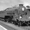 30736 Excalibur in Reading West Station on 28 July 1951.  The locomotive is fitted with a multiple jet blast pipe and large diameter chimney.