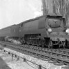 34106 Lydford in Reading West station on 24 April 1951, heading the 9.30 am ex-Birkenhead train bound for Bournemouth.