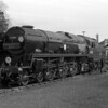 "Merchant Navy Class 35018 British India Line pictured on the triangle at Bournemouth West on 5 May 1956 very shortly after entering service in its ""modified"" form."