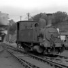 B4 30087 Adams Dock Tank at Bournemouth MPD in the early 1950s.  This locomotive was normally assigned to Poole Docks.
