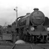 Class N15 30783 Sir Gillemere on the turntable at Bournemouth in the early 1950s.