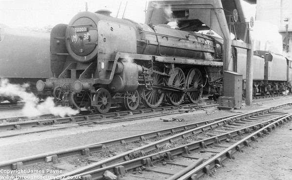 70003 John Bunyan at Carnforth 10a 1966