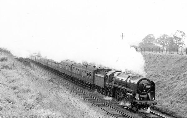 70004 William Shakespeare Henley in Arden L C G B  The Shakespearian Rail Tour 12th November 1966