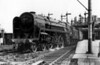 70009 Alfred the Great on a down express leaving Shrewsbury station 12th May 1951