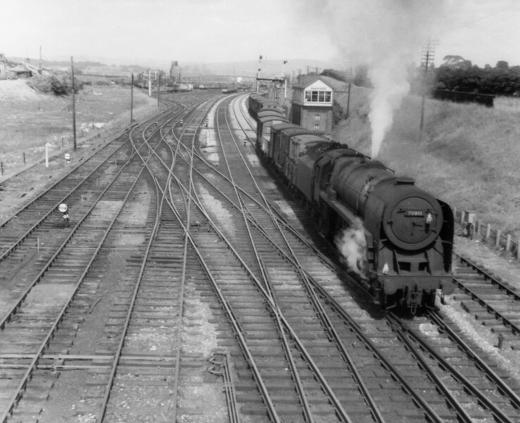 70011 without Hotspur nameplates Carnforth 22nd July 1967