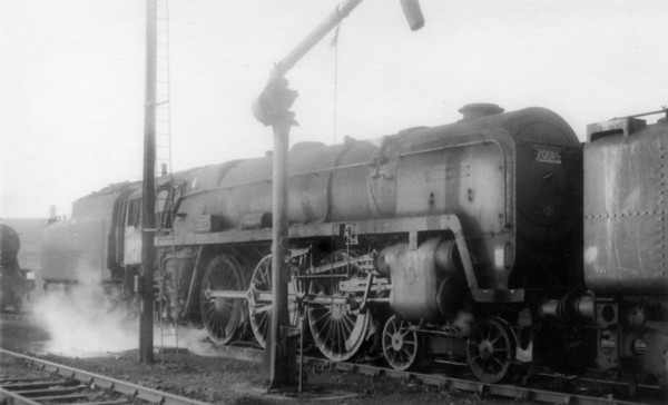 70014 minus 'Iron Duke' nameplates and smokebox number plate Kirkby shed