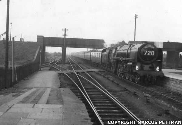 70021 Shooting Star 'The Red Dragon' Severn Tunnel Jct 23-4-1955