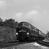 Warshio Class D601 Ark Royal passes Southcote Junction with the down Cornish Riviera Express.  This shot was taken on quarter plate with the Adams Reflex and so must date from very soon after the introduction of this locomotive in 1958.