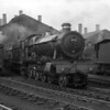 4951 Pendeford Hall emerges from the smoky atmosphere of Reading MPD in 1958.