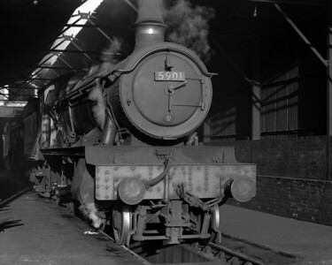 Hall Class 5901 Hazel Hall pictured on shed at Reading MPD in 1957.