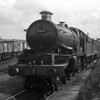 5061 Earl of Birkenhead pictured in Reading MPD shortly after its allocation to this shed in March 1959.  The double chimney was fitted late in 1958.