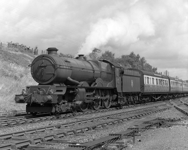 On the same day, 6029 King Edward VIII moves away now on the up main with a down express.