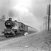 6008 King James II makes a dramatic impact as it approaches Southcote at the head of the down Cornish Riviera (10.30am ex-Paddington) on 23 March 1953.