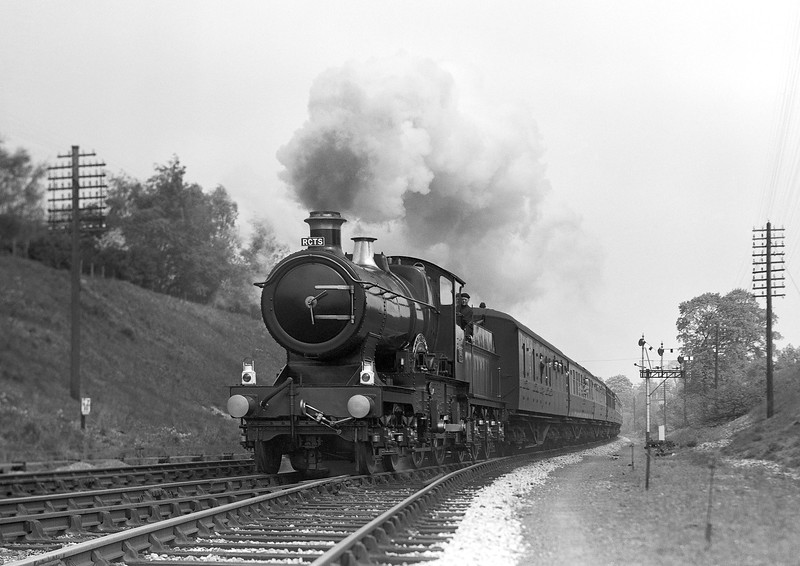 3440 City of Truro heading an RCTS Special to Somerset and Bristol past Southcote Junction on 28 April 1957.
