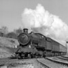 Splendid exhaust in evidence as 4917 Crosswood Hall passes Southcote, some time between February 1955 and May 1956.  Another shot from the Adams Reflex on quarter plate.