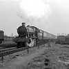 5915 Trentham Hall passing Reading MPD having just left Reading General with the 11.30 ex Paddington on 13 October 1957.