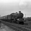 Most of my father's pictures of the Western main line past Reading MPD show down trains heading west, reflecting the fact that most of his photographs were taken in the early evening.  This shot is unusual in showing an up express, headed by 5092 Tresco Abbey.  Although undated, it was probably taken c.1957.