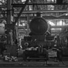 4003 Lode Star seen in 'A' Erecting Shop during an RSMEE visit, c1960.  Lode Star was in course of preparation for its transfer to the Swindon Railway Museum, which took place in 1961.