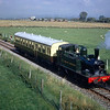 Another picture from the 1968 Open Day.  This was the last excursion with Maurice Earley that I can recall and he nominated this as the best spot to photograph 1466 and the auto-coach on its journey from Wallingford to Cholsey (although this particular train is travelling towards Wallingford with the engine in reverse).