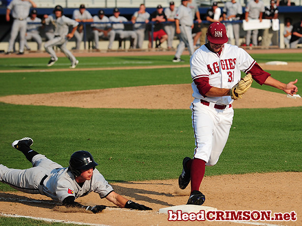 Ryan Beck (36) beats the runner to first for an out.<br /> <br /> Photo Credit: Sam Wasson