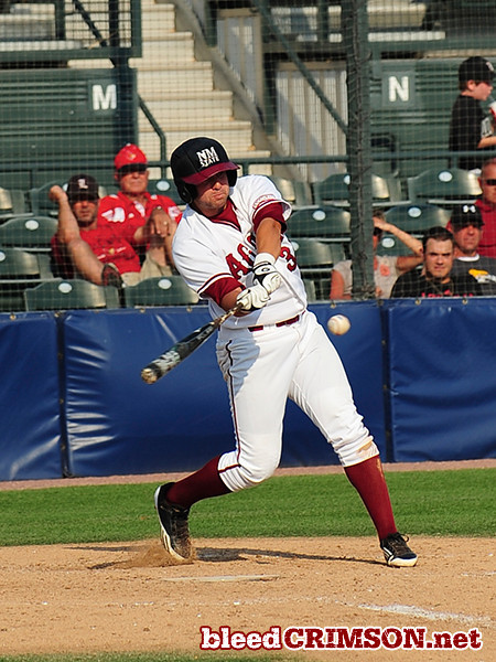 Robert Lecount (35) takes a swing<br /> <br /> Photo Credit: Sam Wasson
