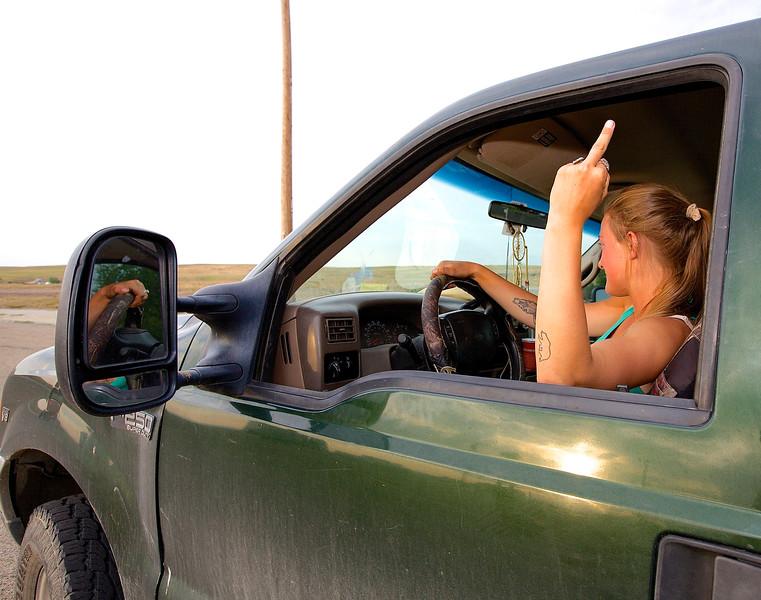 Traffic. Sheridan, Wyoming