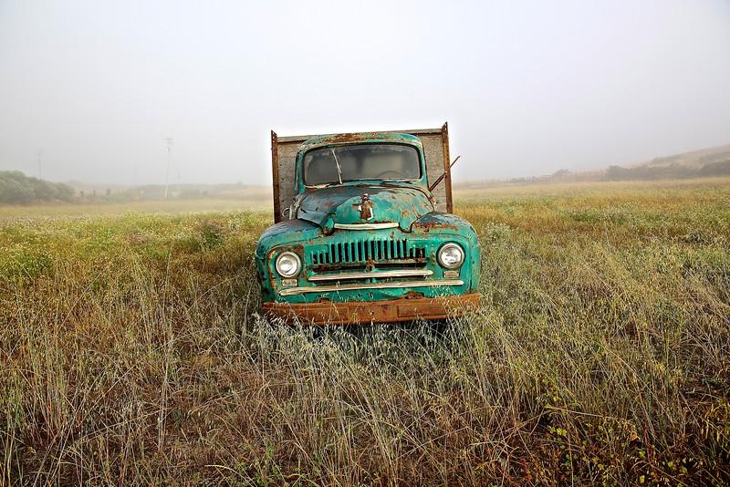 Old Truck. Santa Cruz County Farm, California