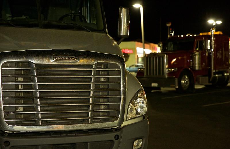 Truckers Wait. Fernley, Nevada.