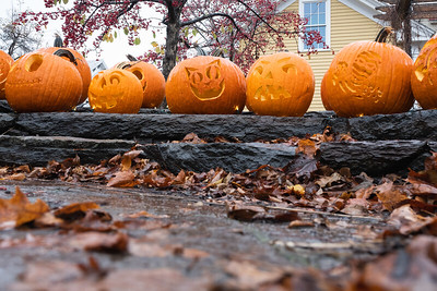 KELLY FLETCHER, REFORMER CORRESPONDENT -- Jack O'Lanterns decorate Riverbank Park in the center of Wilmington for Halloween.