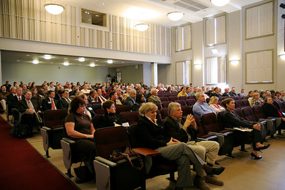 Godbold School of Business hosts an Entrepreneurship Symposium in Blanton Auditorium; November 20, 2008.