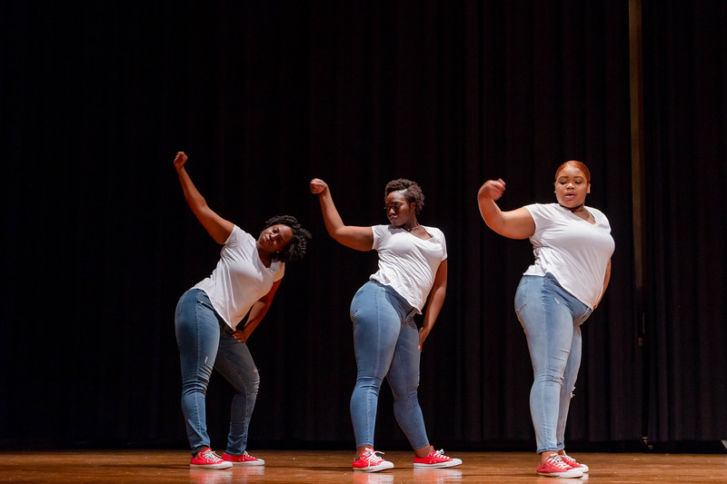 Delta Sigma Theta Sorority shows off their moves during Black Student Union Represent. BSU Represent was at 7 p.m., Oct. 27, at Forum Hall in the Union. (Mary Kate Zach   Collegian Media Group)