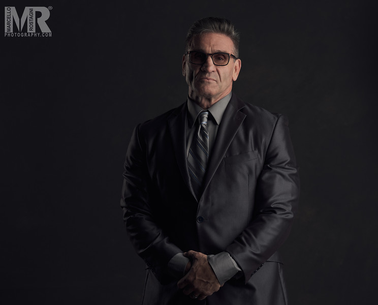 Portrait Photographer Marcello Rostagni Photographs MMA legend Ken Shamrock in his studio using the new Fujifilm GFX100 and Profoto Lighting.
