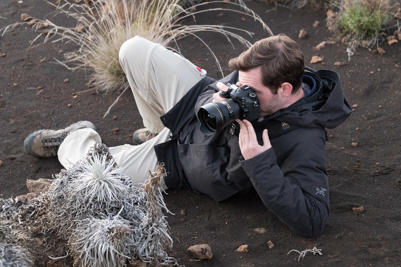 Ian getting a good shot of Silversword