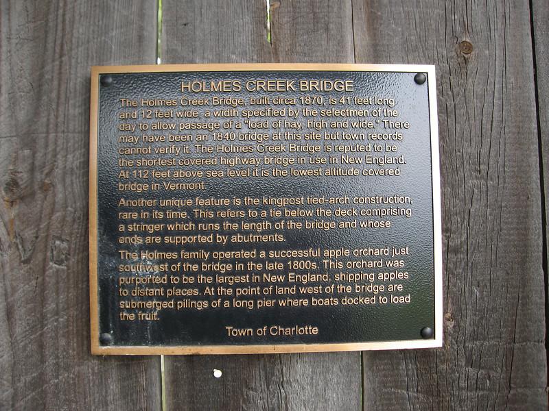 41 Holmes Creek Bridge Placard