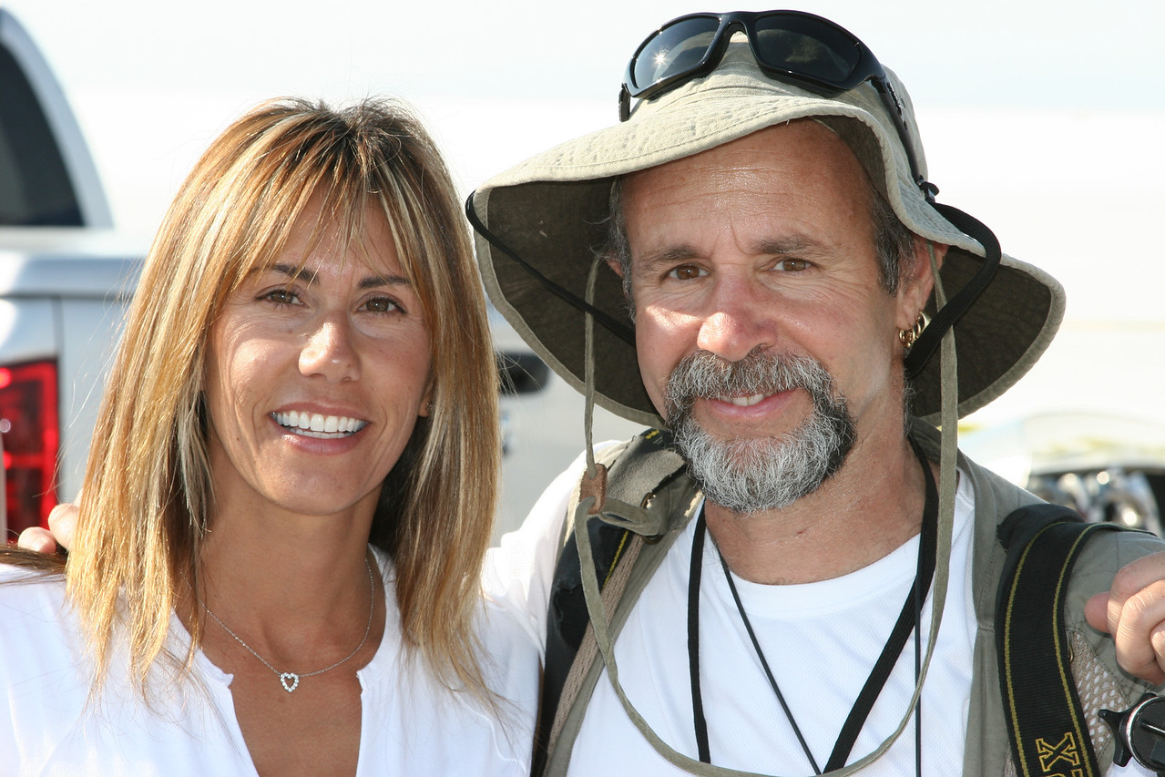 Valerie Thompson and world famous motorcycle photographer Michael Lichter.