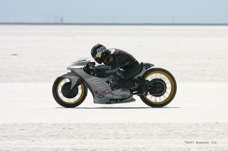 Roger Goldhammer on the Bonneville Salt Flats.