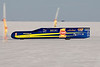 2008. The Ack Attack, piloted by Rocky Robinson, had a meet top speed of 319 mph. They are prepping for the Top Speed Shoot out on the Salt Sept 22, 2008.<br /> Two weeks later at the Top One Shootout Rocky and the Ack Attack regained the top spot in the world with a record just over 360 mph.<br /> This IS the fastest motorcycle in the world.