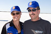 Trish and Rocky Robinson. Rocky pilots the Ack Attack. The Top One Ack Attack is now the fastest motorcycle in the world with a 360+ mph run on the Bonneville Salt Flats.