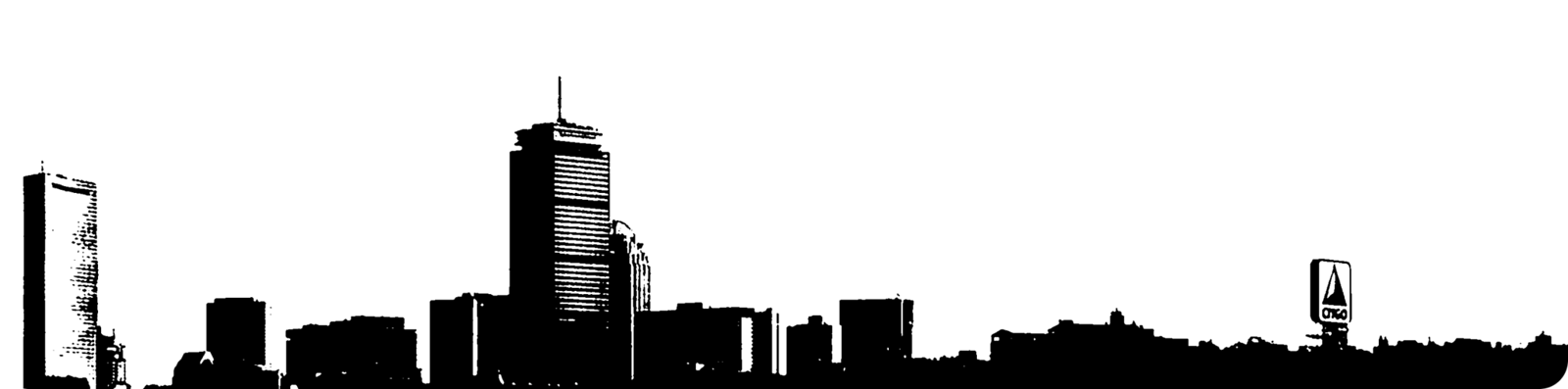 Boston Silhouette Rounded Corners