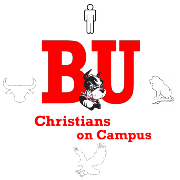 Boston University Christians on Campus Icon Red Four Living Creatures