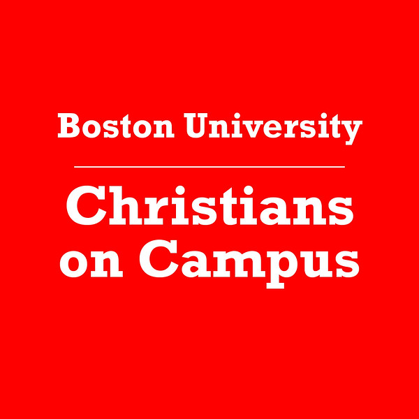 Boston University Christians on Campus Icon Text Rockwell Red