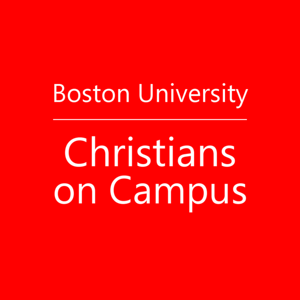 Boston University Christians on Campus Icon Text Ebrima Red
