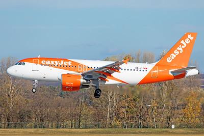 easyJet Switzerland Airbus A319-111 HB-JYF 11-14-18