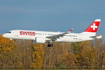 Swiss Airbus A220-300 HB-JCL 11-14-18