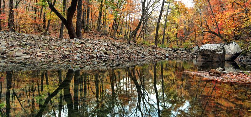 Fall Reflections - Richland Creek - Ozarks