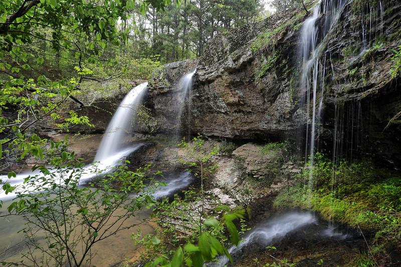 White Oak Creek Falls from Below, Ozark National Forest - Arkansas April 13, 2020